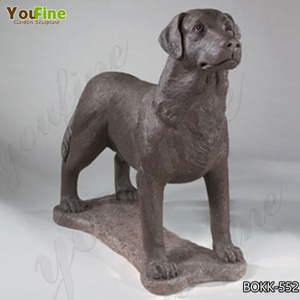 Wholesale Casting Bronze Rottweiler Outdoor Sculpture for Decor BOKK-552