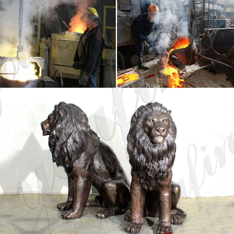 Life Size Garden Decoration Casting Bronze Animal Lion Statue Supplier