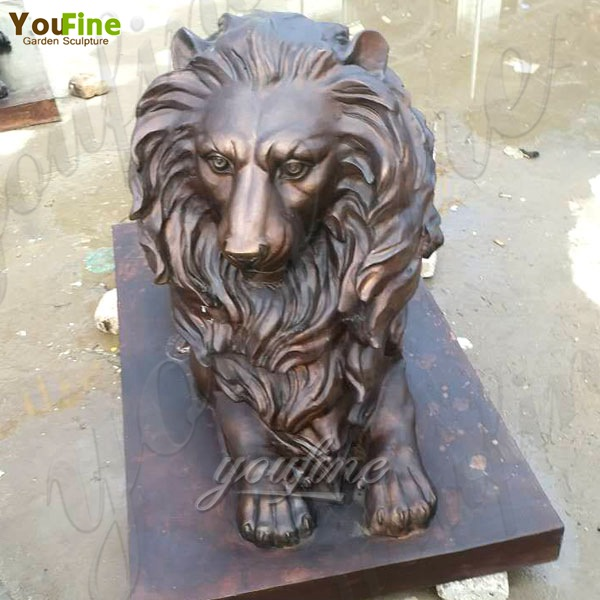 Casting Large Bronze Lion Statue for Garden Decoration Supplier BOKK-491
