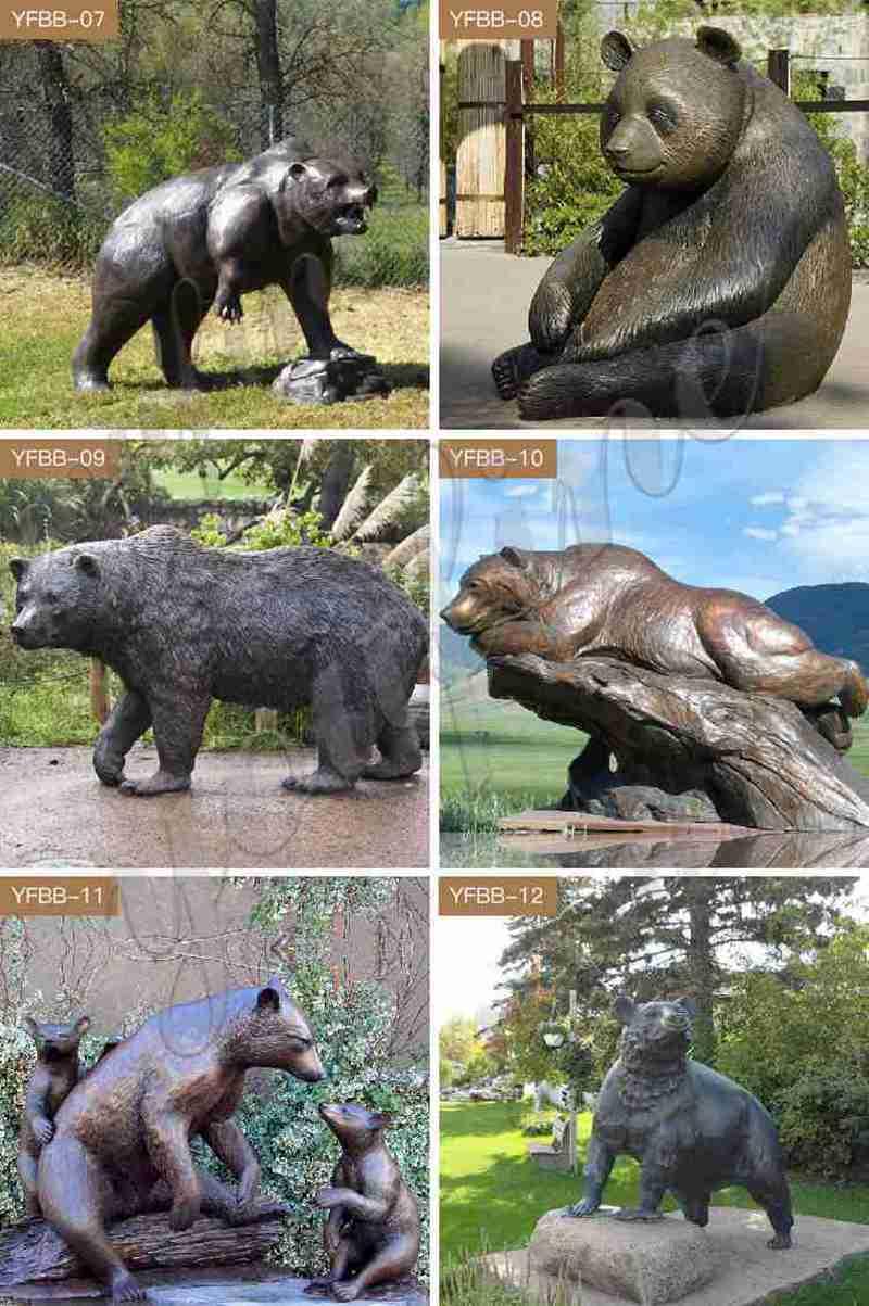 Bronze Life Size Bear Statue Outdoor