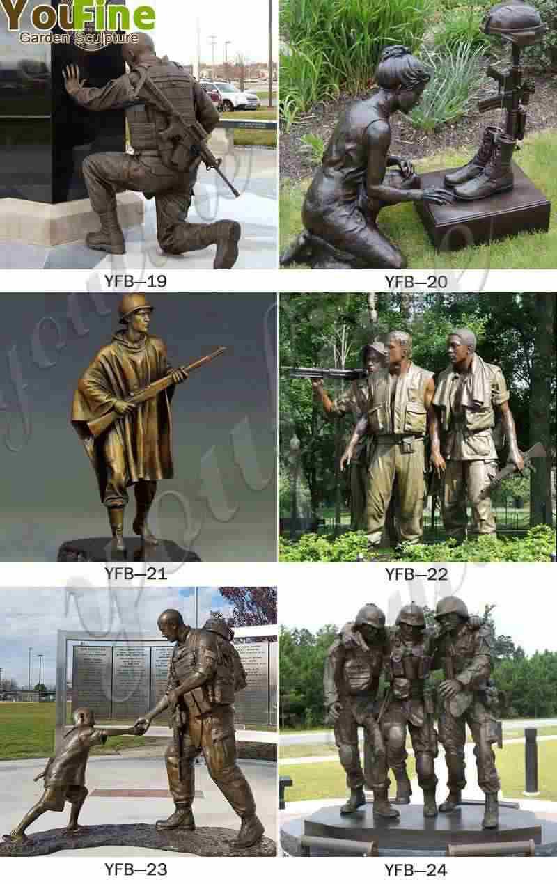 Bronze Memorial Sgt. Dan Brown Soldier Statue