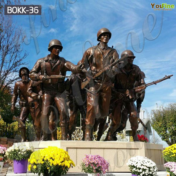 Casting Bronze Memorial War Soldier Statue for Sale BOKK-36