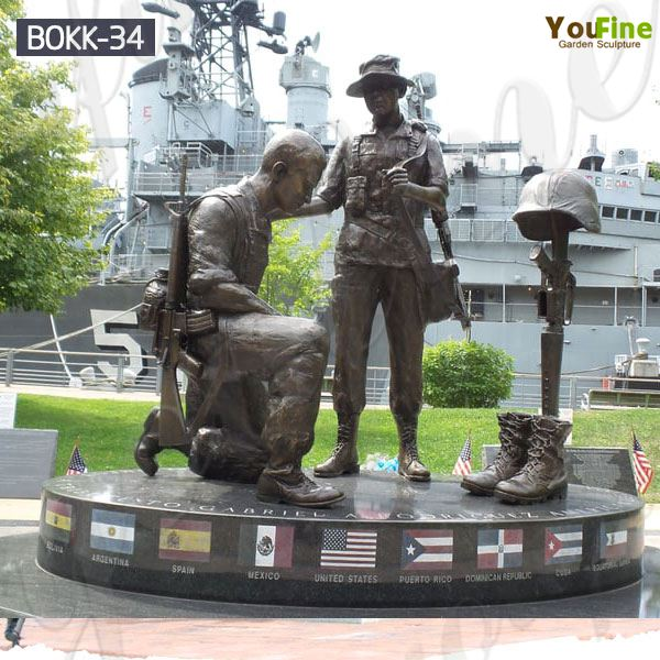 Outdoor Bronze Military Man Soldiers Statue for Sale BOKK-34