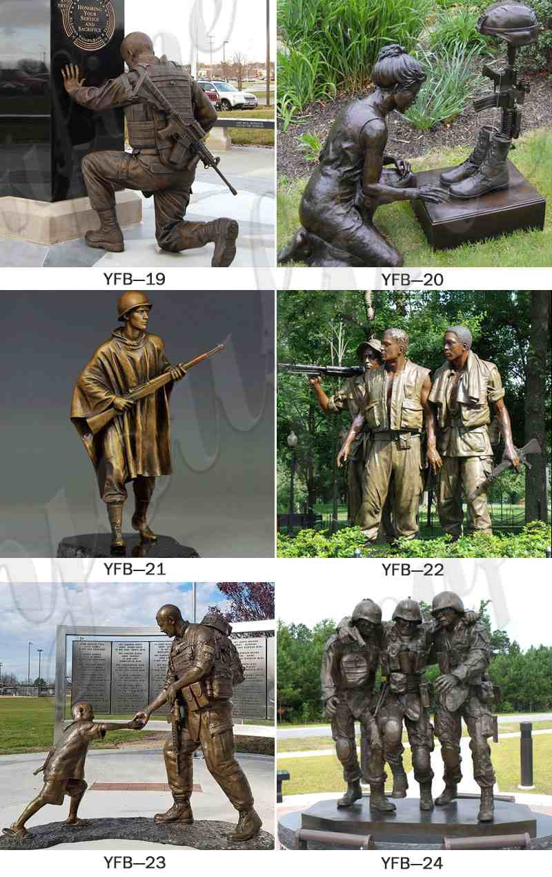Outdoor Bronze Military Man Soldiers Sculpture for Sale