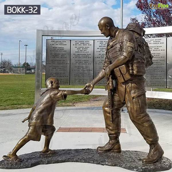 Where to Buy Bronze Memorial Sgt. Dan Brown Soldier Statue BOKK-32