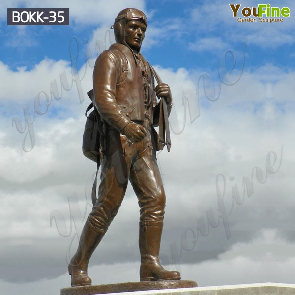 Wholesale Life Size Bronze Military Soldier Sculpture Supplier BOKK-35