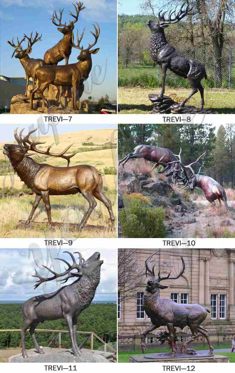Bronze Elk Outdoor Statue Garden Decor for Sale BOKK-274