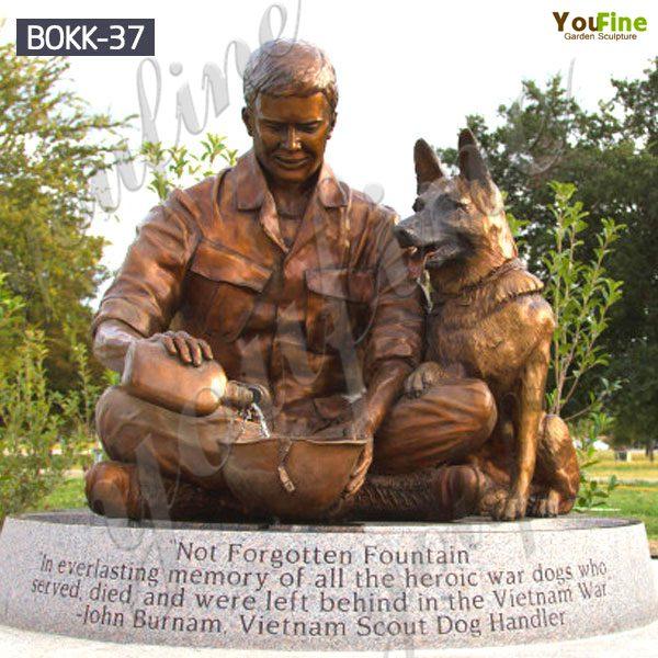 Bronze Memorial Vietnam Not Forgotten Fountain Soldier Statue for Sale BOKK-37