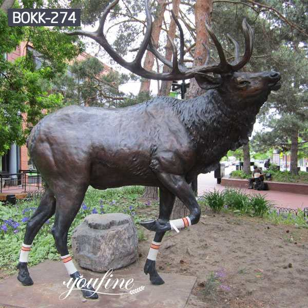 Life Size Bronze Elk Outdoor Statue Garden Decor for Sale BOKK-274