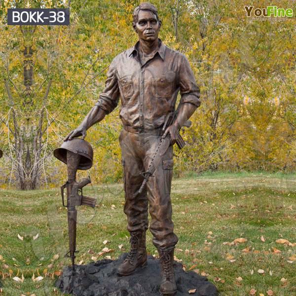 Memorial Vietnam Soldier Outdoor Standing Bronze Statue for Sale BOKK-38