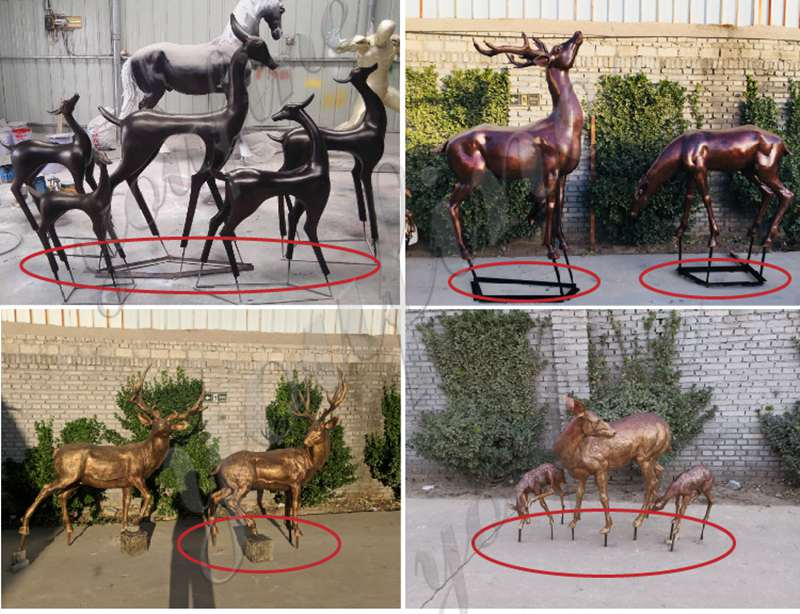 Outdoor Casting Life Size Bronze Elk Statue