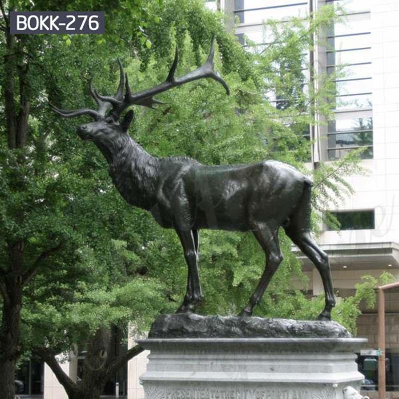 Outdoor Casting Life Size Bronze Elk Statue for Sale