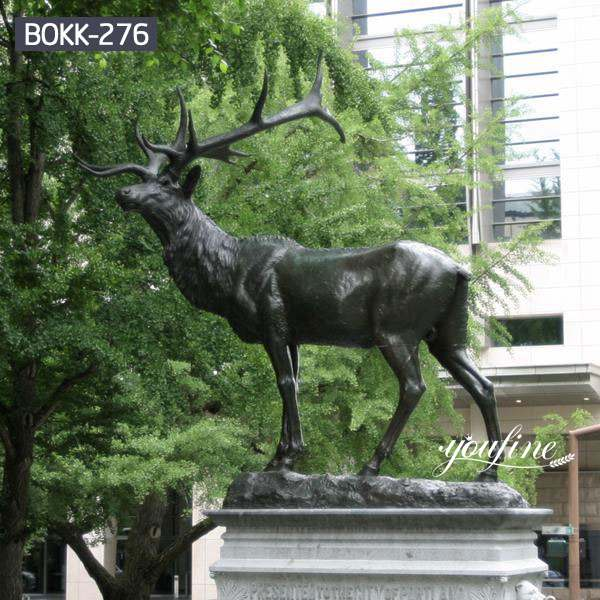 Outdoor Casting Life Size Bronze Elk Statue for Sale BOKK-276