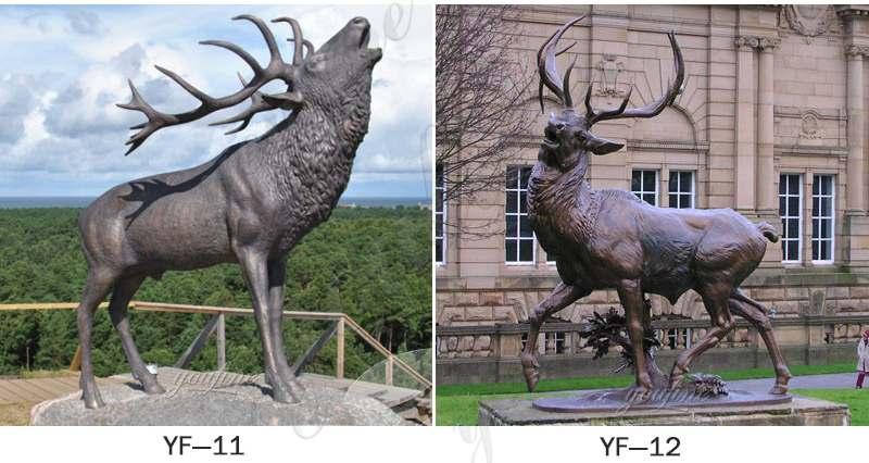 Outdoor Life Size Bronze Elk Statue for Sale BOKK-276