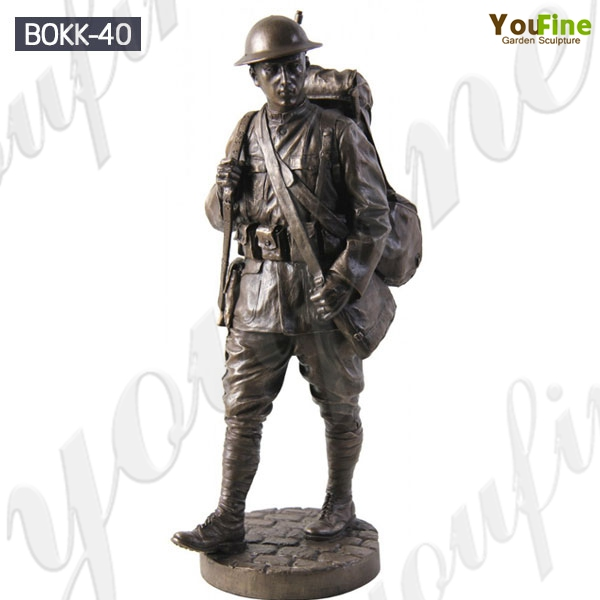 Veterans Day Memorial Standing Soldier Bronze Statue for Sale BOKK-40