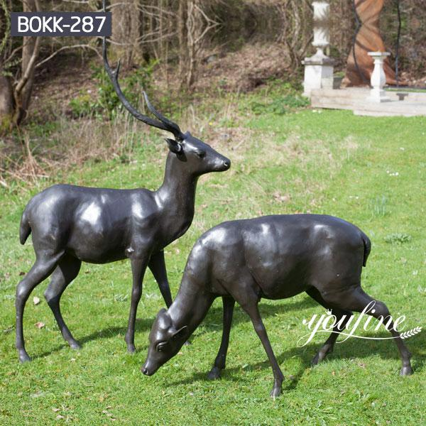 Bronze deer Statue Group Outdoor Yard Decor for Sale BOKK-287