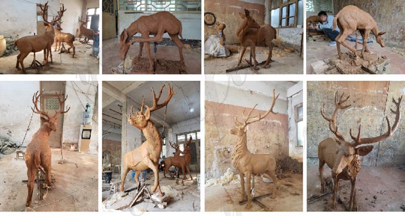 Bronze deer Statue Group Outdoor Yard for Sale BOKK-287