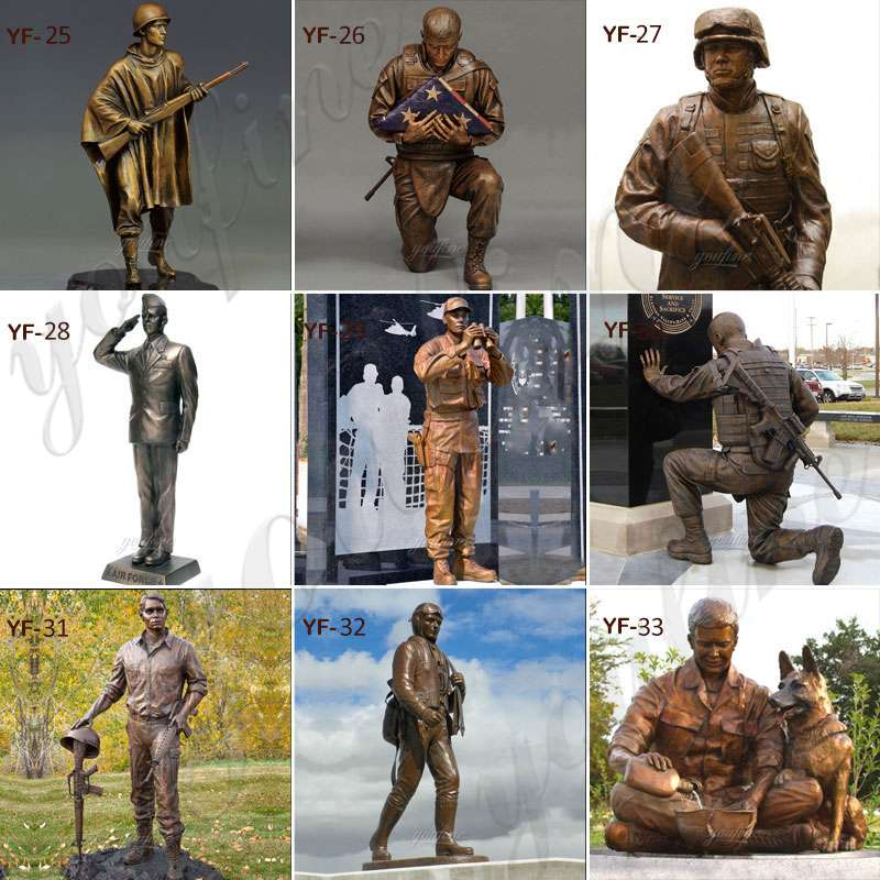 Custom Bronze Soldier Dog sculpture Monument for Sale BOKK-439