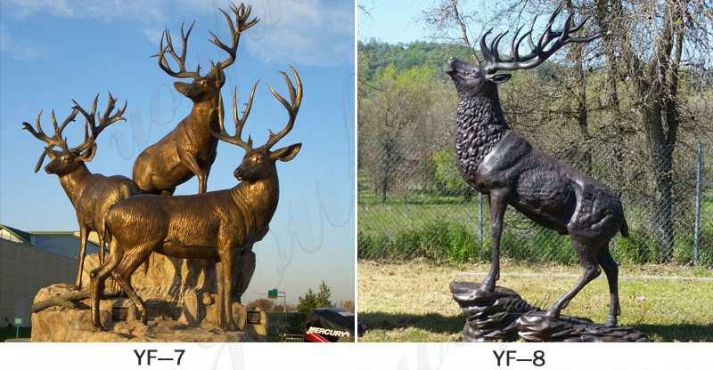 deer Statue Group Outdoor Yard Decor for Sale BOKK-287 - 副本