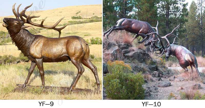 deer Statue Group Outdoor Yard Decor for Sale BOKK-287