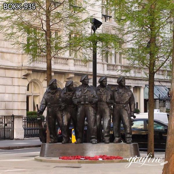 Life Size Bronze Soldier Statue Royal Tank Regiment Monument BOKK-935