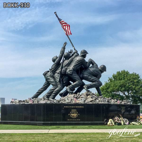 World War II American flag Bronze Soldier Statue