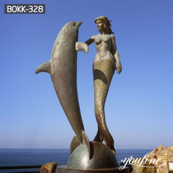 Life Size Aquarium Decoration Bronze Mermaid Statue for Sale BOKK-328