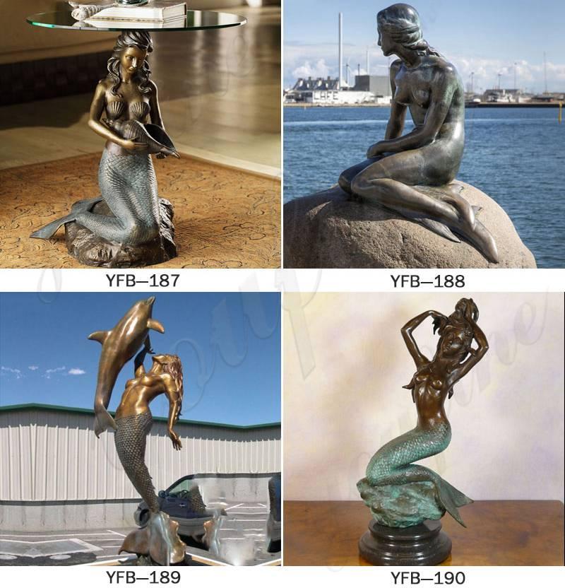 Life Size Outdoor Bronze Mermaid Statue