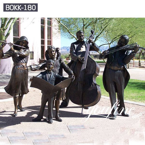 Life Size Bronze Musician Statues Group for Sale BOKK-180