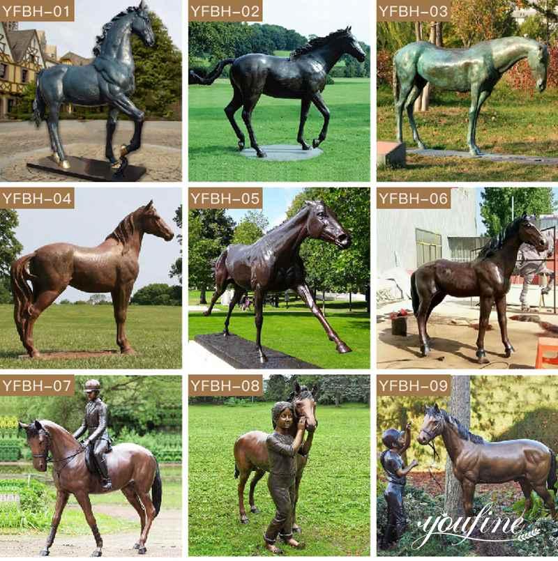Giant Bronze Horse Statue Square Decoration for Sale BOKK-949