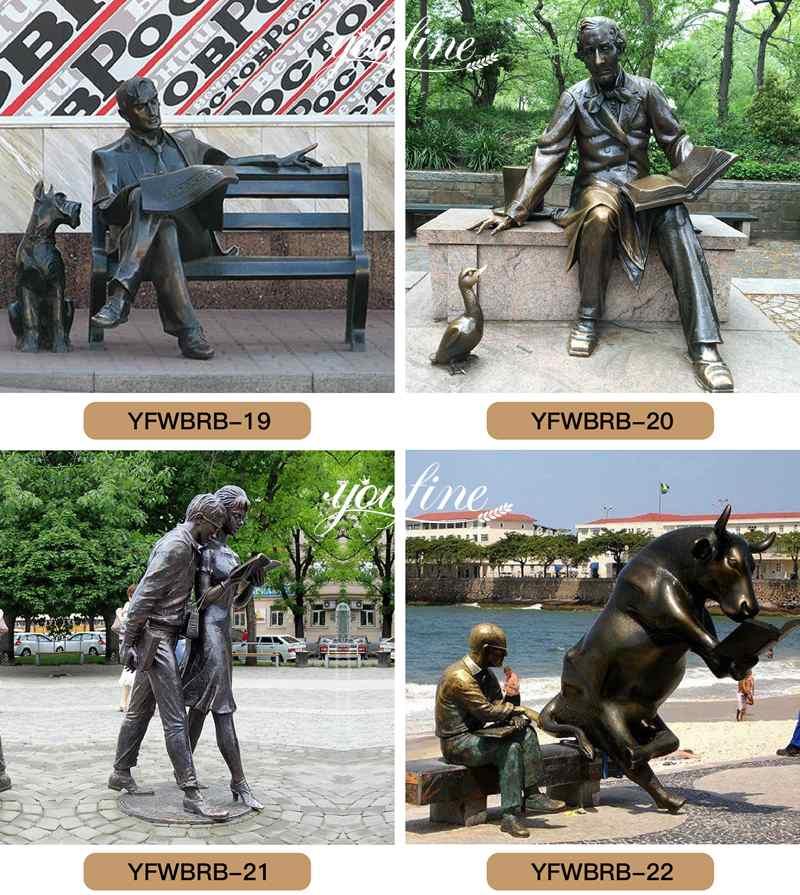 Bronze Lover Statue Reading Newspaper for Sale BOKK-177