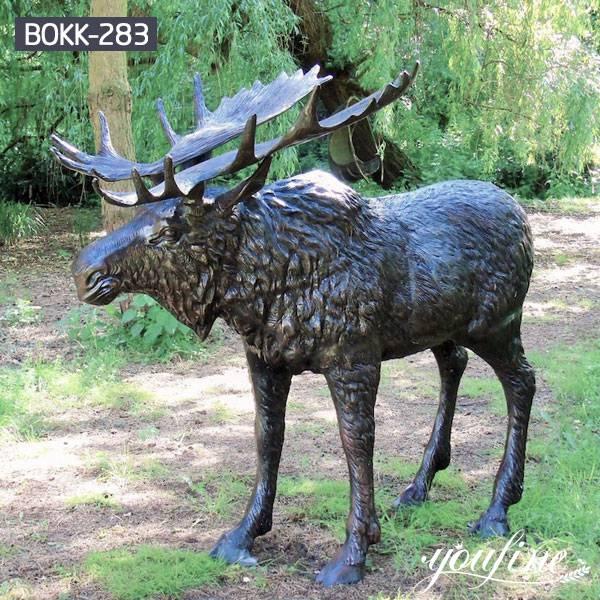 Large Bronze Moose Statue Outdoor Yard Decor for Sale BOKK-283