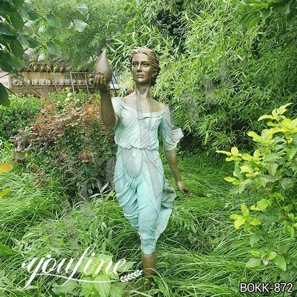 Life Size Bronze Woman Statue Garden Decoration for Sale BOKK-872