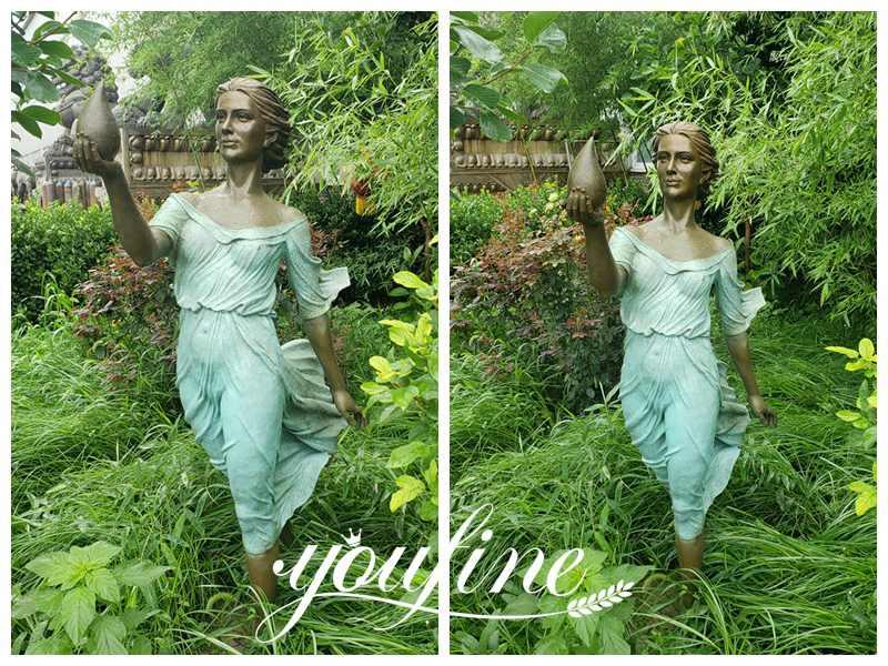 Life Size Bronze Woman Statue Garden Decoration for Sale BOKK-872 (4)