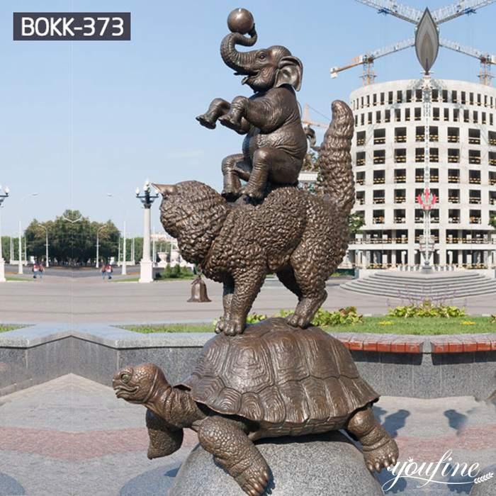 Life-Size Bronze Wildlife Sculptures Garden Decor Factory Supply BOKK-373
